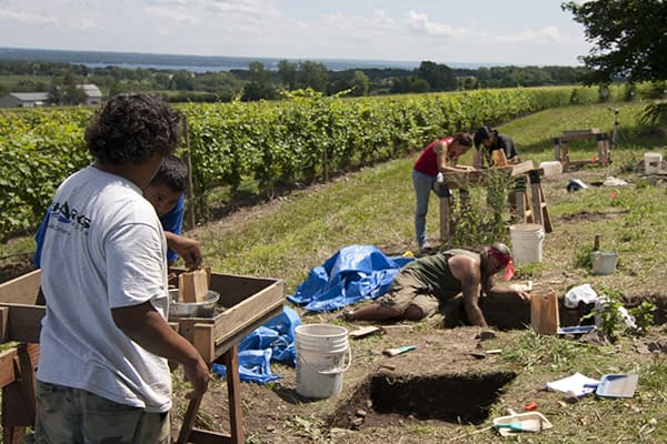 archaeological dig in progress at White Spring site